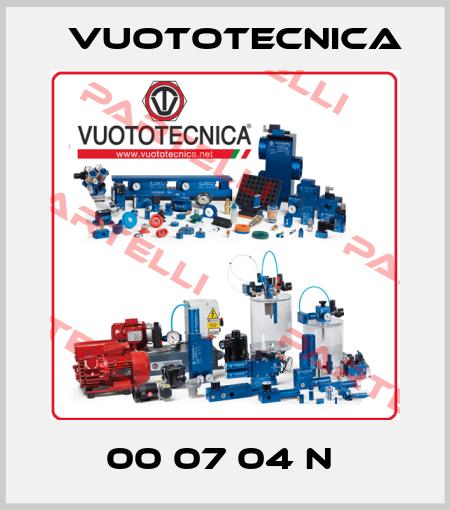 Vuototecnica-00 07 04 N  price