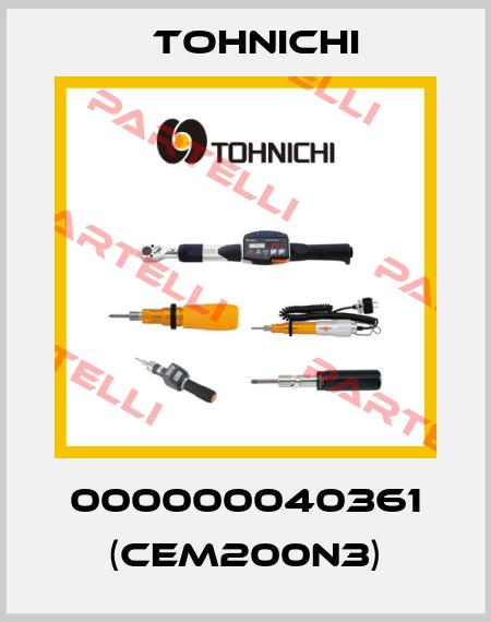 Tohnichi-000000040361 (CEM200N3)  price