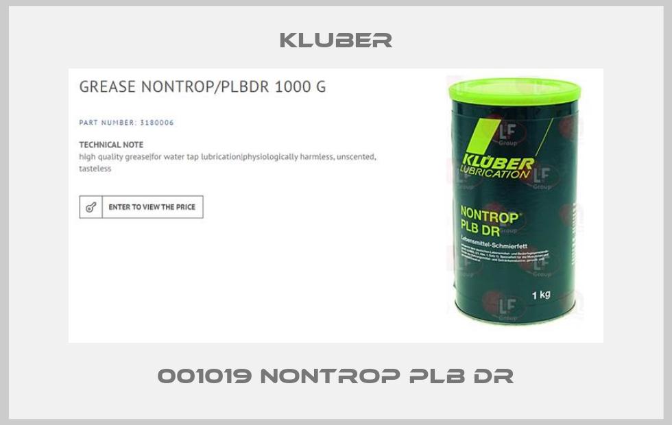 Kluber-001019 NONTROP PLB DR price