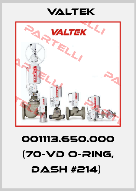 Valtek-001113.650.000 (70-VD O-RING, DASH #214)  price