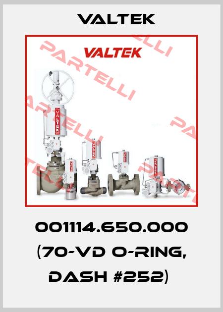 Valtek-001114.650.000 (70-VD O-RING, DASH #252)  price