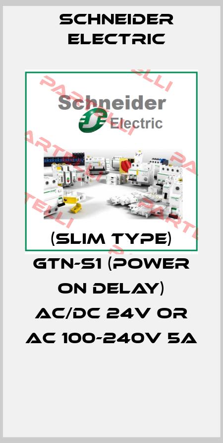 Schneider Electric-(SLIM TYPE) GTN-S1 (POWER ON DELAY) AC/DC 24V OR AC 100-240V 5A  price