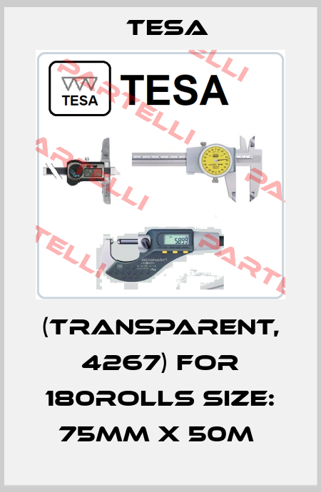 Tesa-(TRANSPARENT, 4267) FOR 180ROLLS SIZE: 75MM X 50M  price