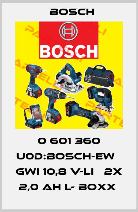 Bosch-0 601 360 U0D:BOSCH-EW     GWI 10,8 V-LI   2X 2,0 AH L- BOXX  price