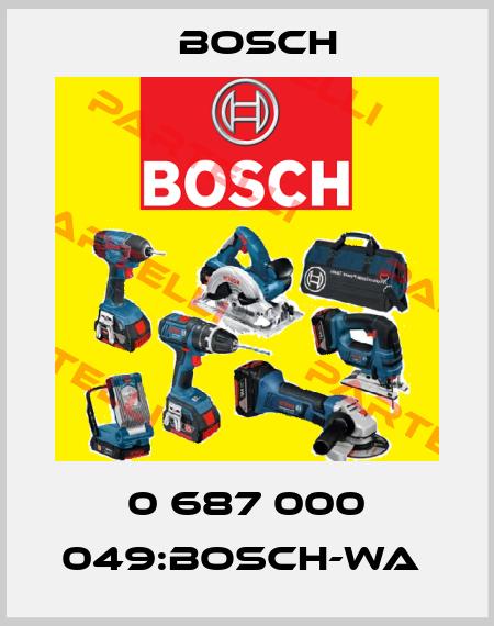Bosch-0 687 000 049:BOSCH-WA  price