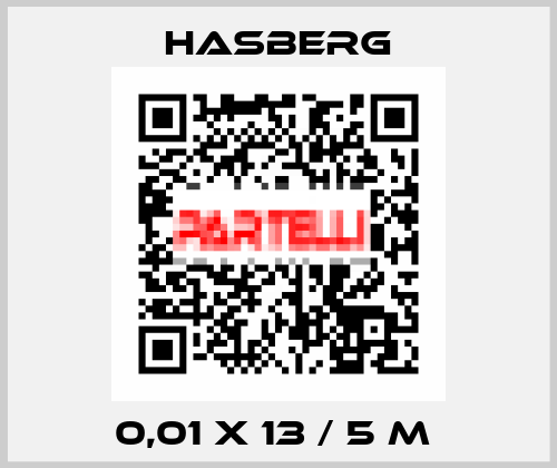 Hasberg-0,01 X 13 / 5 M  price