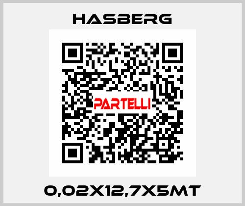 Hasberg-0,02X12,7X5MT  price