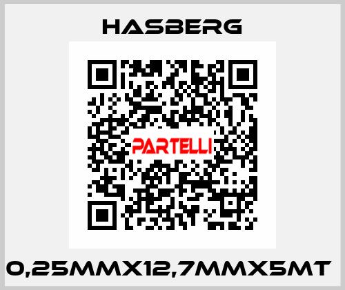 Hasberg-0,25MMX12,7MMX5MT  price