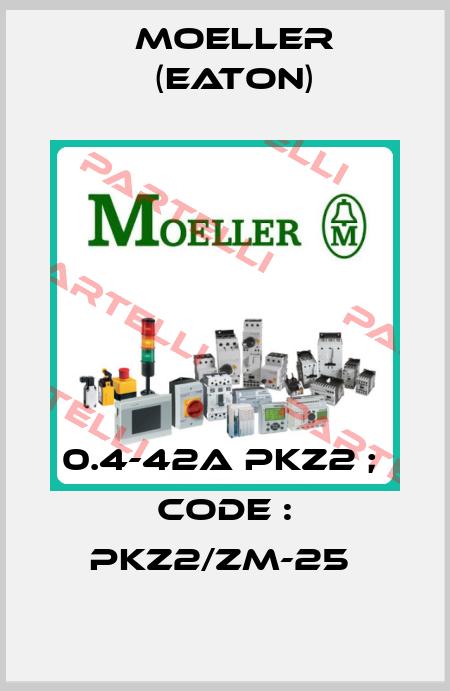 Moeller (Eaton)-0.4-42A PKZ2 ;  CODE : PKZ2/ZM-25  price